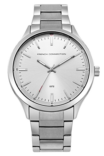 French Connection Men's Quartz Metal and Stainless Steel Casual Watch, Color:Silver-Toned (Model: FC1287SM)