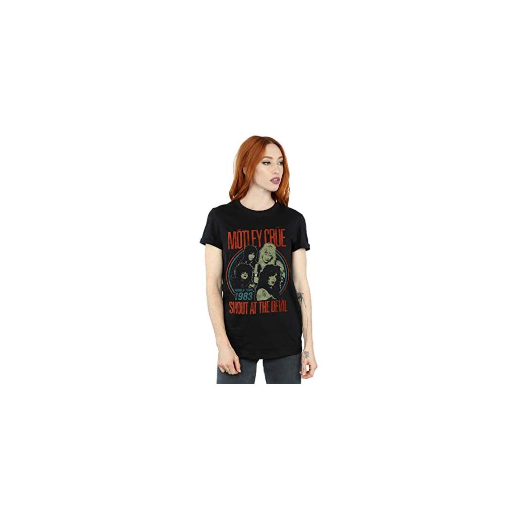 Motley Crue Mujer Vintage '83 Shout At The Devil Camiseta