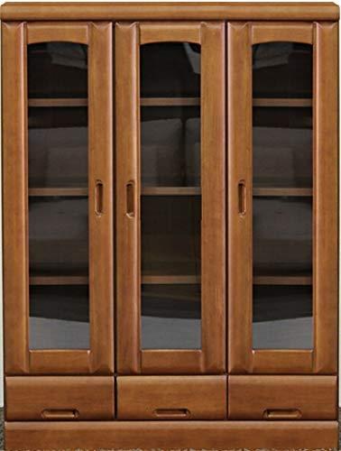 日本製 キャビネット 幅90cm 高さ120cm サイドボード 飾り棚 飾棚 収納棚 完成品 B006QGTMII