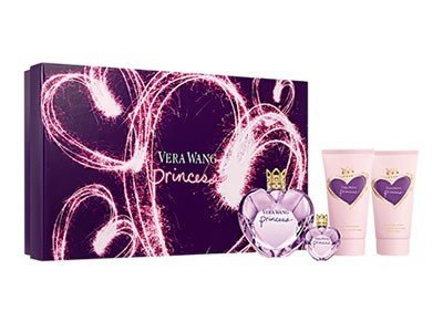 Vera Wang Women's Spray 1.7 Oz, Body Lotion 2.5 Oz, Body Polish 2.5 Oz, Perfume Mini .13 Oz in Window Box