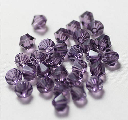 500pcs Purple Exquisite Glass Crystal 4mm #5301 Bicone Beads Loose Beads ~