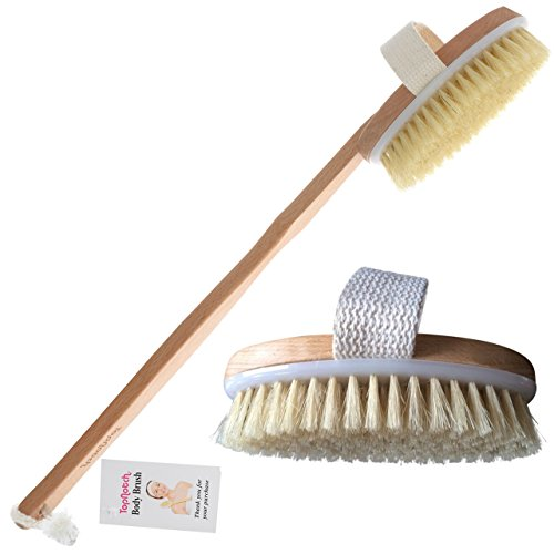 TopNotch Body Bath Brush - Long Handle Natural Bristles Wooden Bath Brushes - Detachable Head - Dry Skin Brushing eBook