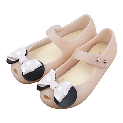 iFANS Girls Sweet Dot Bow Princess Sandals Shoes Mary Jane Flats for Toddler/Little Kid Pink