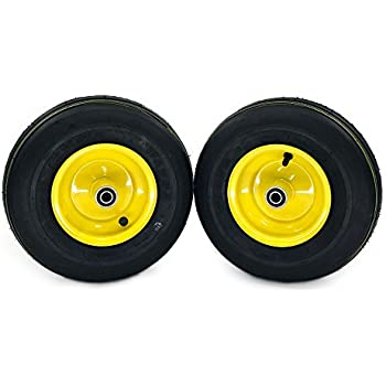MowerPartsGroup (2) John Deere Pneumatic Ribbed Wheel Assemblies 13x5.00-6 Replaces AM138762