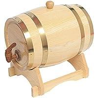 Wine Barrel Whiskey Barrel Wooden Barrel for Storage Or Aging Wine & Spirits Beer Household Home Brewing Wooden Barrel 5 L