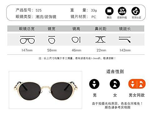 métallique vintage rond soleil Lennon Pièce en retro inspirées Jaune lunettes style cercle polarisées de du FP8q07x