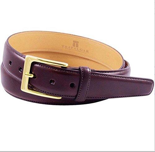 (Trafalgar Signature Cortina Leather Belt Burgundy)