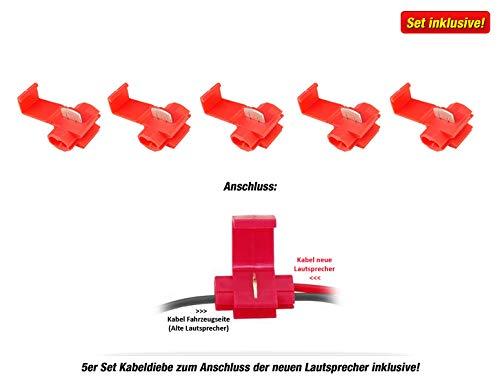 Hifonics TR6.2C Front//Heck 16,5cm//165mm 2-Wege Kompo Auto Lautsprecher//Boxen//Speaker f/ür Toyota Aygo 2 /& Yaris 3 Typ XP13