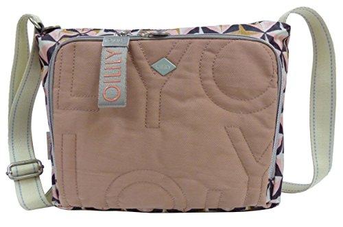 Damen Charm Geometrical Shoulderbag Mhz Schultertasche, Pink (Rose), 13x23x27 cm Oilily