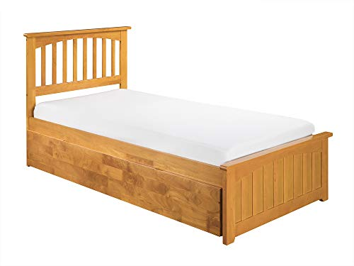 Atlantic Furniture 77 in. Eco-Friendly Twin Bed in Caramel Latte Finish (Caramel Medium Finish)