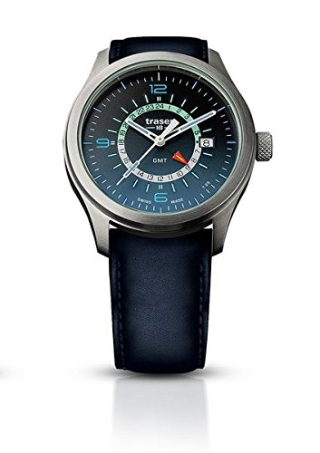 traser H3 Blue P59 Aurora GMT Watch | Leather Watch Band