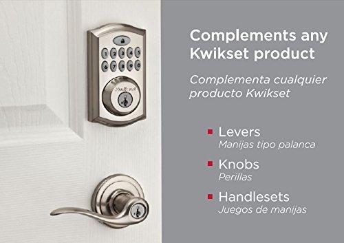 Kwikset 99130-002 SmartCode 913 UL Electronic Deadbolt featuring SmartKey in Satin Nickel