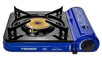 TIROSS TS de 264 Gas Camping Horno con cerámica Placa de cocción de Infrarrojos, para