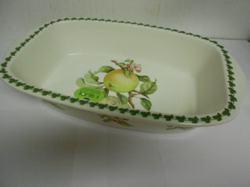 Portmeirion Apple Harvest Large Rectangular Handled Baker