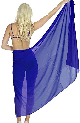 gasa ligero traje de baño traje de baño de la falda pareo 3x del bikini de las mujeres básicas Google Azul