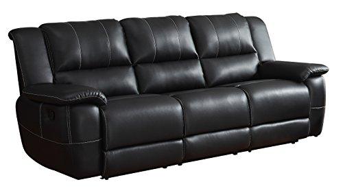 Amazon Com Homelegance Bonded Leather Black Double