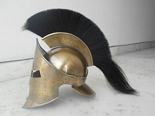 THOR Collectibles Medieval Roman Spartan Helmet,King 300 Leonidas Armorw/ Black Plume