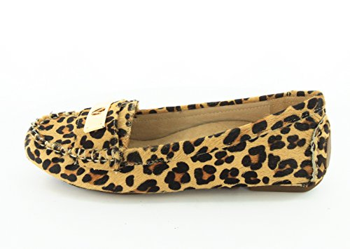 Vionic with Orthaheel Technology - Mocasines para mujer Tan Leopard 3