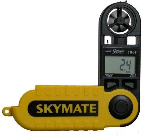 WeatherHawk SM-18 SkyMate Hand-Held Wind Meter, Yellow by Speedtech Instruments (Speedtech Wind Meter)