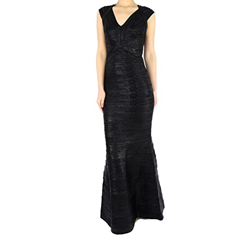 Damen HLBCBG Kleid Gold Rot Schwarz Gold 7OdPUOn