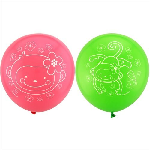Printed Latex Balloons | Monkey Love Collection |