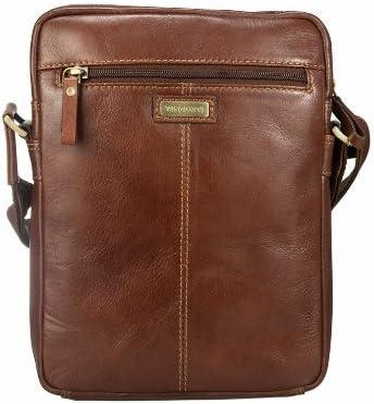 Visconti Leather Ziptop CrossBody Bag Messenger Handbag Shoulder Bags – Vintage 1