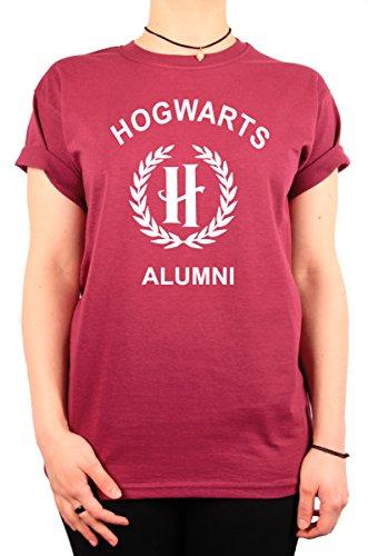 """TheProudLondon Hogwarts Alumni"""" H Logo Unisex T-shirt (Medium, Maroon)"""