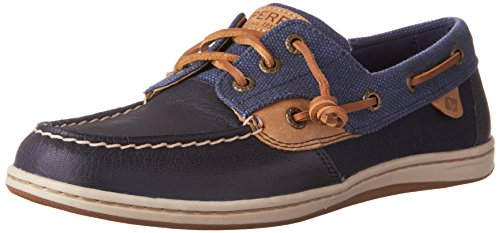 Sperry Top-Sider Women's Songfish Waxy Boat Shoe Navy
