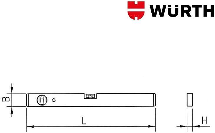 W/ürth 0714644202 Leggera 200x20x50mm Robusta LIVELLA Lega Legg.Base FRESATA 20CM
