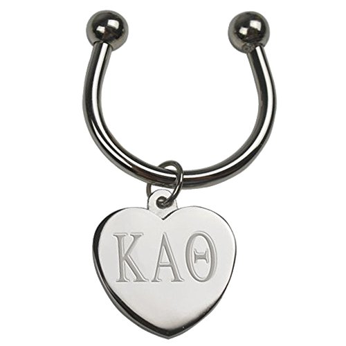 (Kappa Alpha Theta Silver Heart Keyring)