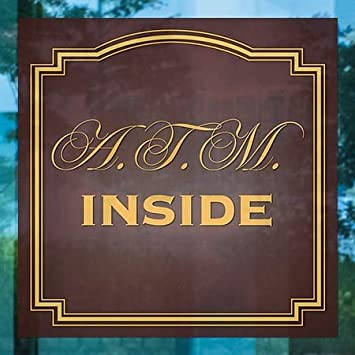 5-Pack ATM Inside CGSignLab Classic Brown Window Cling 24x24