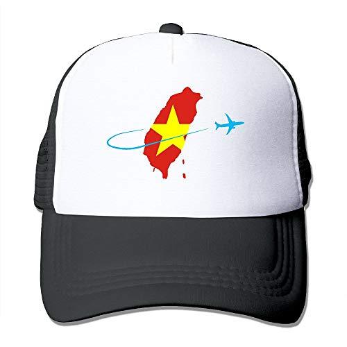FashionMZI Unisex Trucker Hat Vietnam Flag with Plane Women Adjustable Mesh Cap Funny Back Cap