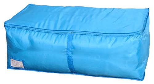 Clothes Quilt Bedding Duvet Zipped Handles Laundry(Blue)(S) - 1