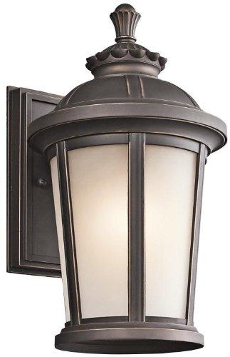Kichler 49410RZ Ralston Outdoor Wall 1-Light, Rubbed Bronze