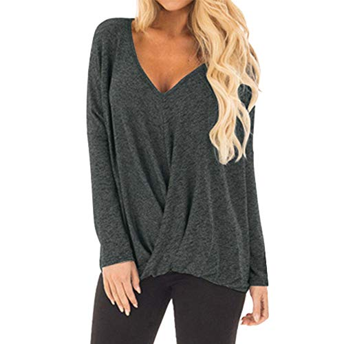 (Mebamook Women's Scoop Neck A-Line Tunic Blouse Striped Off Shoulder Bell Sleeve Shirt Tie Knot Casual Blouses Gray)