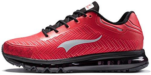 ONEMIX Zapatos de Running para Hombre Deportes y Aire Libre Rojo/Negro