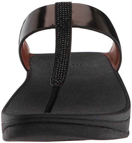 Fitflop Fino Crystal Toe-Thong Sandals - Sandalias de Mujer EN Color Negro