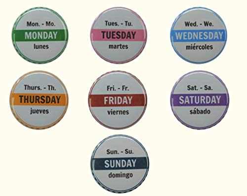 - Days of Week Magnets, 7-Piece Set, 1.5