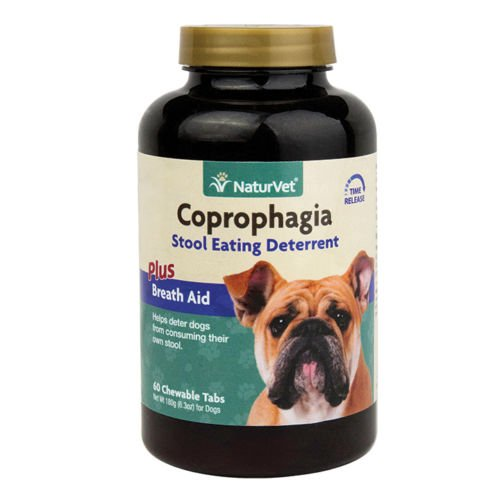 NaturVet COPROPHAGIA DETERRENT - Stops Dogs and Puppies from Eating Poop 60 Tab