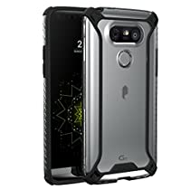 Poetic Cases Affinity Slim Fit Dual Material Protective Bumper Case for LG G5 Black/Clear