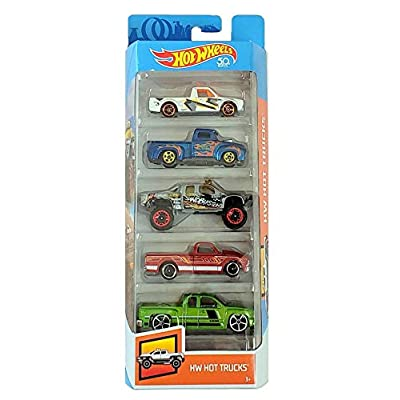 Hot Wheels 2020 50th Anniversary HW Hot Trucks 5-Pack: Toys & Games