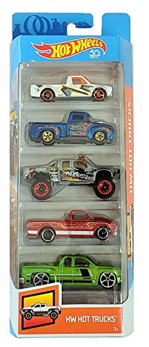 - Hot Wheels 2018 50th Anniversary HW Hot Trucks 5-Pack