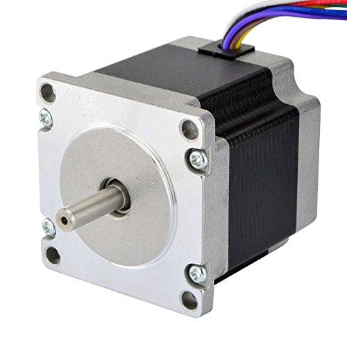 STEPPERONLINE Dual Shaft Nema 23 CNC Stepper Motor 1.26Nm(179oz.in) 8 Wires CNC Mill Router (Motor Unipolar Nema Stepper)