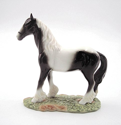 Cosmos Gifts 20957 Black and White Porcelain Horse Figurine 5