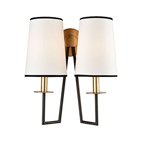 Elk Lighting 1141-077 On Strand Wall Sconce Oiled Bronze, Gold Leaf ()