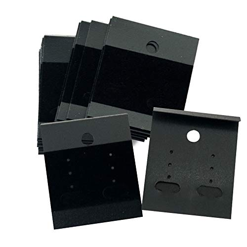 LGEGE 100 Pcs Black Earring Jewelry Display Hanging Cards Jewelry Trays Other Jewelry Accessories