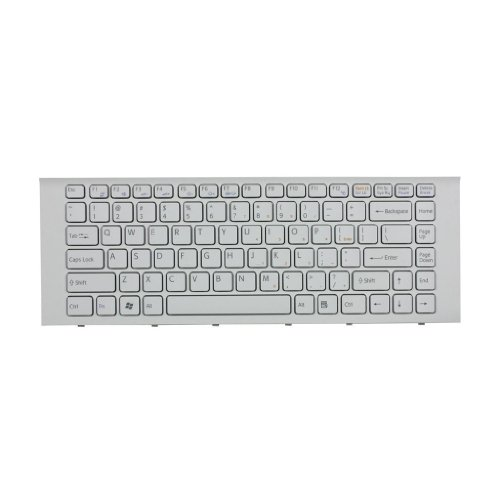 Cool-See Keyboard For Sony Vaio VPCEG VPC-EG Vaio PCG-61911L PCG-61913L PCG-61A11L PCG-61A12L PCG-61A13L PCG-61A14L series Laptop Keyboard Color White with Frame US Layout 9Z.N7ASW.101 148970211 SF1SW SF3SW -  KB-14-SONY-PCG61-(KB-7)-3003