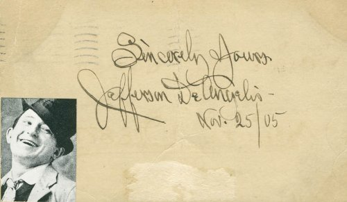 Jefferson Deangelis - Poster Signed 11/25/1905 ()