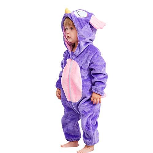 Funny Infant Romper Jumpsuit Baby Layette Bodysuit Kids' One-Piece(Purple,90)