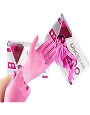 Luva Látex Descartável Rosa Pink Unigloves Com Pó Caixa Com 100 Original 50 pares para procedimento cartucho